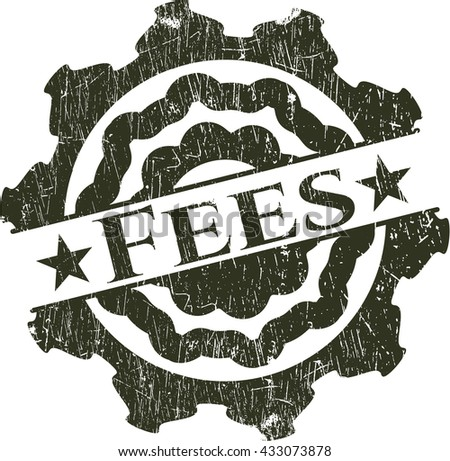 Fees rubber grunge texture stamp