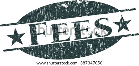 Fees rubber stamp