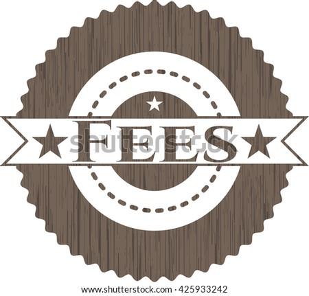 Fees wooden emblem. Vintage.