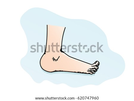 feet cartoon illustration