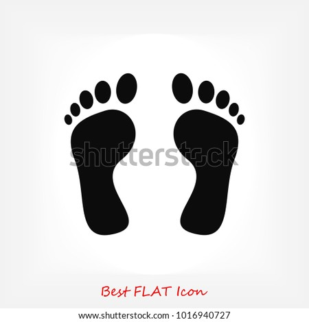 Shutterstock feet icon vector , stock vector illustration flat design style