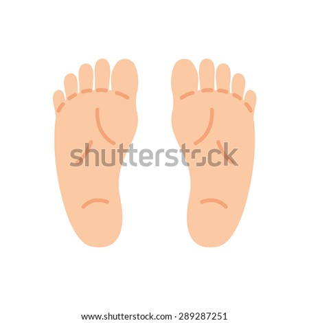 feet isolated on white