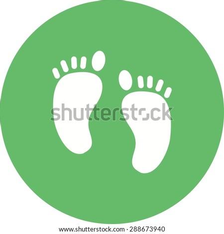 feet  nail  body icon vector
