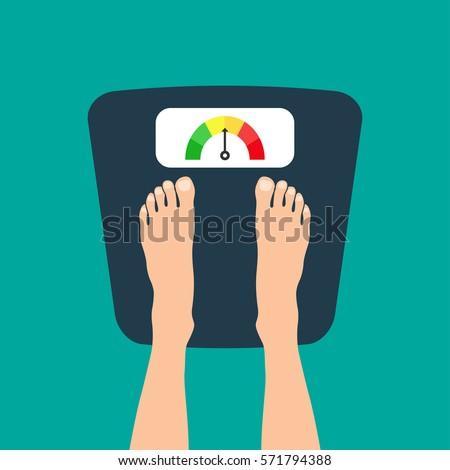 feet on weighting machine