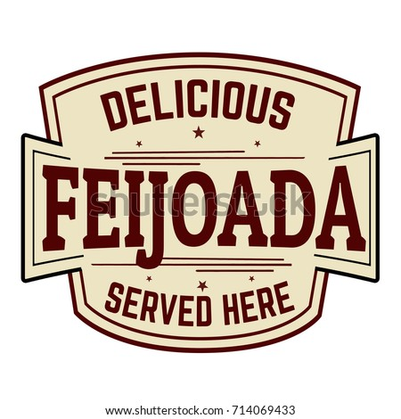 Feijoada sign or stamp on white background, vector illustration
