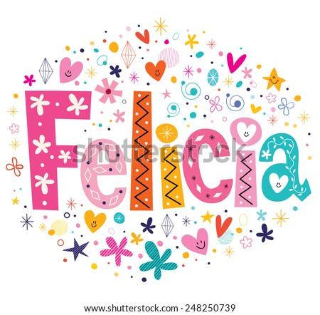 felicia girls name decorative