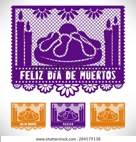 Feliz Di-a De Muertos Happy Day Of The Dead Cut out paper