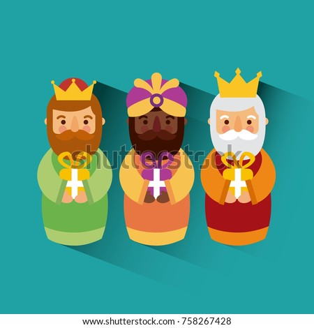 feliz dia de los reyes three magic kings bring presents to jesus