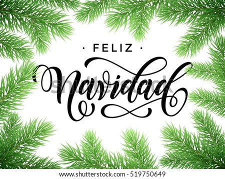 Spanish christmas greetings download free vector art stock feliz navidad spanish merry christmas tree branches festive christmas greeting card with fir tree branches m4hsunfo