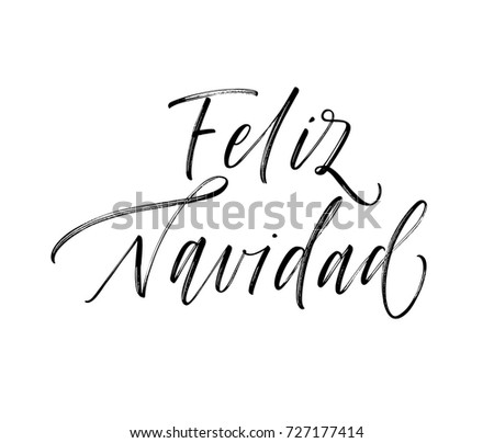Spanish christmas greetings download free vector art stock feliz navidad spanish phrase merry christmas in spanish greeting card ink illustration m4hsunfo