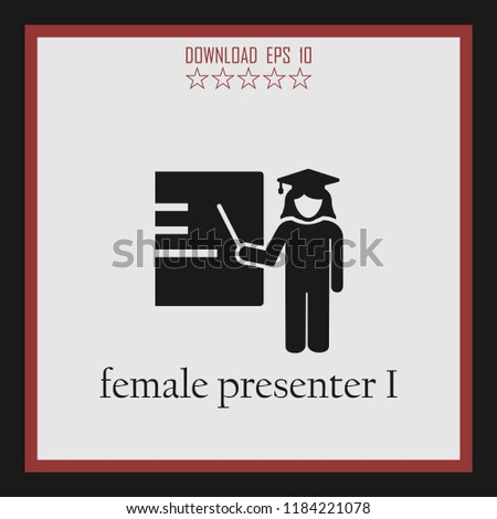 femae presenter I vector icon