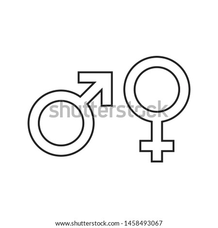Female and male gender icons. vector illustration