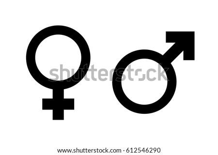 Female and male gender symbol set