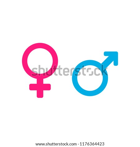 Female and male sex icon
