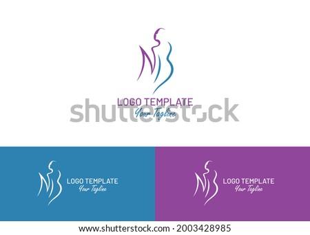 Female athlete silhouette vector logo  design template Foto stock ©