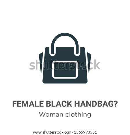 Female black handbag? vector icon on white background. Flat vector female black handbag? icon symbol sign from modern woman clothing collection for mobile concept and web apps design.