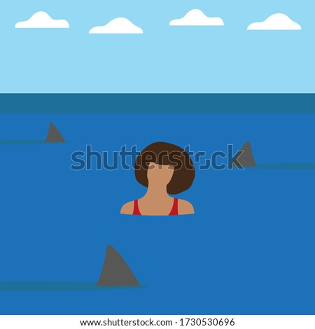 female character in water