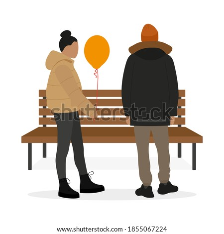 female character with a balloon
