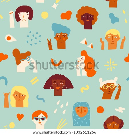 female diverse faces of
