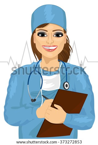 female doctor or nurse with
