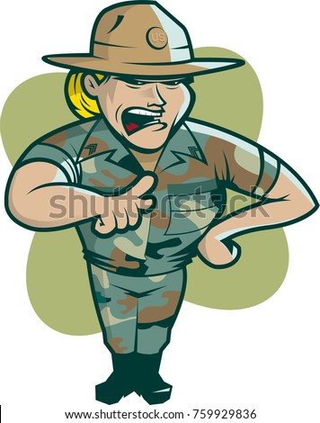 Female drill instructor vector