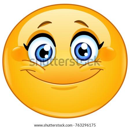 Female emoticon smiling