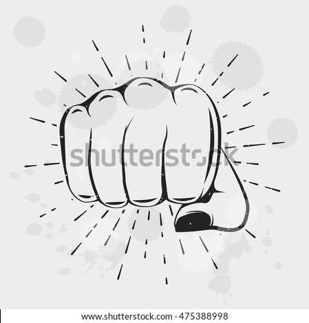 female fist women rights girl
