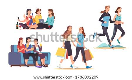 female friends spending time