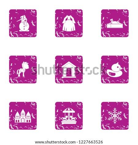 female gladness icons set