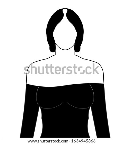 Female hair loss  icon. Woman with alopecia. Hairloss problem. Dermatology and beauty treatment. Thinning hairline. Falling hair. Unhealthy scalp condition. Isolated vector illustration