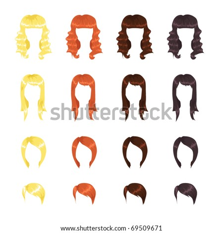 Female hairstyles assortment