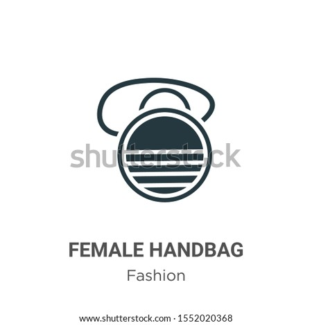 Female handbag vector icon on white background. Flat vector female handbag icon symbol sign from modern fashion collection for mobile concept and web apps design.