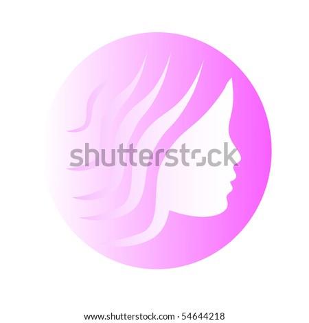 Female icon on a white background