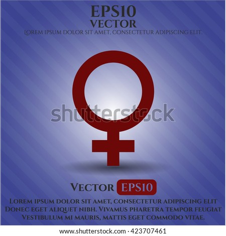female icon vector symbol flat eps jpg app web concept website