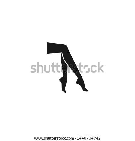 female legs black vector