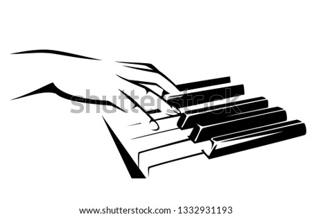female musician hand playing