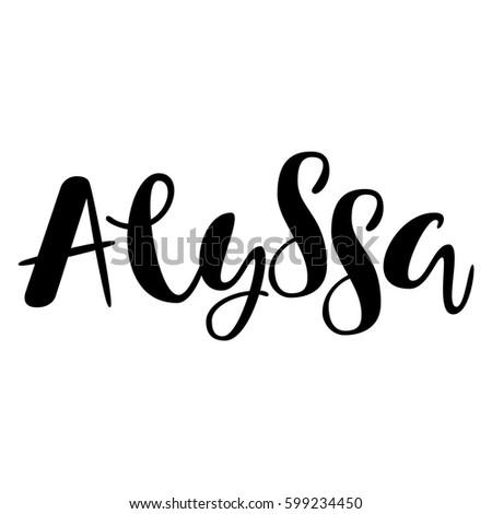 the name alyssa coloring pages | alyssap images - usseek.com