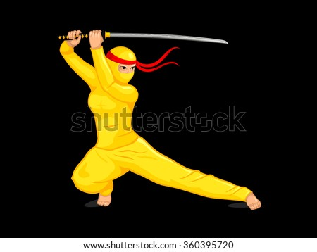 female ninja with a katana