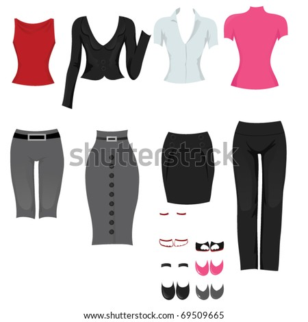 Female office clothes.