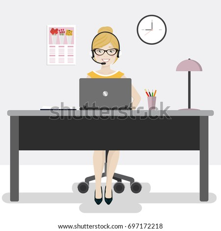 female office worker with