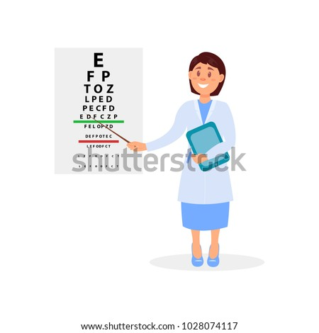 female ophthalmologist holding