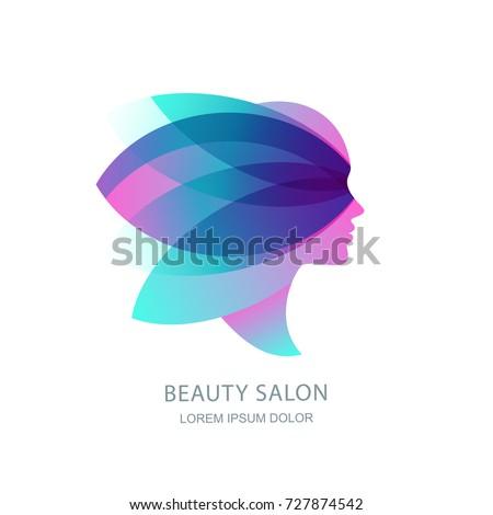 female profile silhouette in