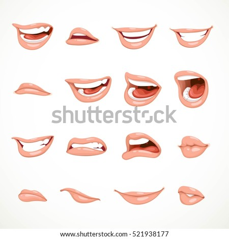 female's mouth to express