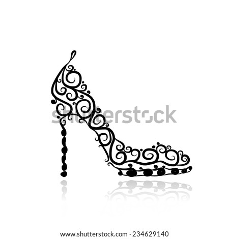 female shoes  sketch for your