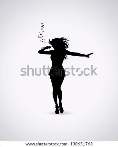 female singer   vector