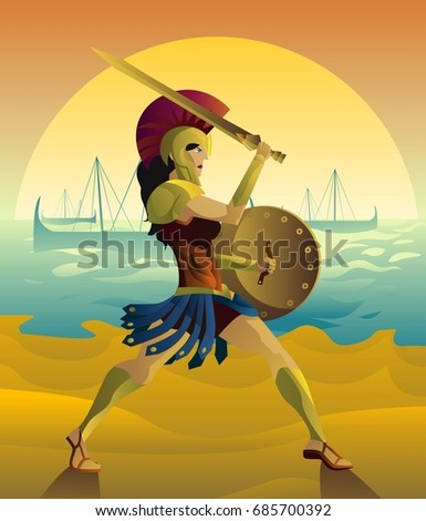 female spartan soldier with