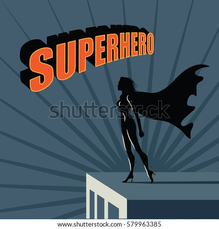 female super hero atop a