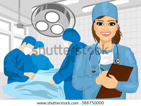 female surgical nurse in