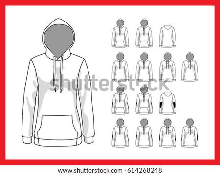 female sweatshirt with hood and