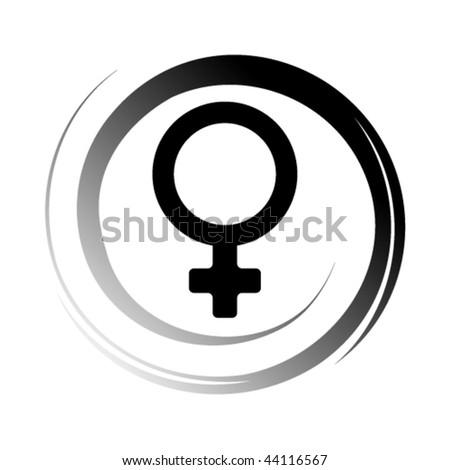 Female symbol, vector